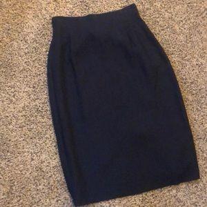 Vintage Navy Pencil Skirt